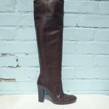 Miss Sixty Leather Boots UK 5 Eur 38 Womens Sexy Shoes Pull on Brown Boots