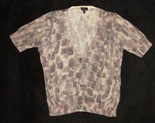 Talbots Petites Tan Brown Short Sleeve Cardigan Sweater Size L Large