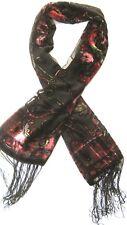 Motif Floral Noir, Rose, violet et gris floral femmes foulard