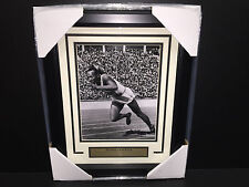 JESSE OWENS 1936 BERLIN GERMANY OLYMPICS 4 GOLD MEDALS RECORD FRAMED 8X10 PHOTO