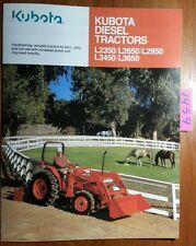 Kubota L2350 L2650 L2950 L3450 L3650 Diesel Tractor Brochure 3088 01 Ca 396
