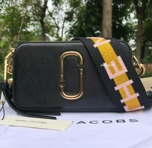 BNWT MARC JACOBS SNAPSHOT BAG BLACK MULTI SMALL CAMERA BAG