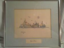 William Eagan The Crew Watercolor Print 1975 Boats