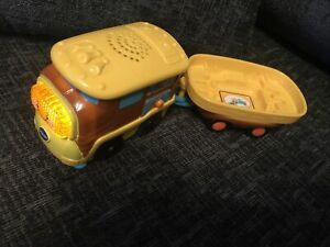 Vtech Toot Toot Motorised Train And  Trailer,Gold mine ,Freight train