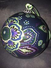 Vera Bradley Glass Ornament 2009 Blue Rhapsody - New In Box (Rare)