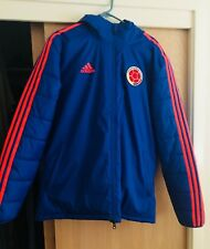 COLOMBIA ADIDAS NEW ORIGINAL Winter Hooded Jacket Blue Stadium Médium