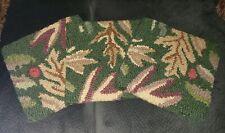 Company C 3 wool square bar stool chair pads cushions green oak leaf fall bistro