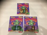 3 Baby Dino Eggs - Wind Up Toy - Vintage Simba Mosc Neu Ovp