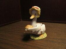 Vintage Porcelain Goose in Apron - Lefton Figurine - Carrying Pie - 02348