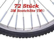 Fahrrad  3M Speichenreflektoren 72 Stück Speichensticks nach StVO. Neu
