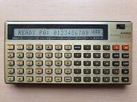CASIO FX-702P Programmable Calculator, BASIC PC Pocket Computer #590