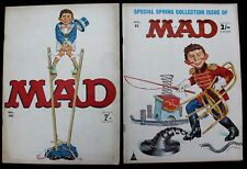 MAD Mags # 52 & 56 UK  Classic BUY ME Cover Advert in Lot of 2 fn+/vfn 1964/66