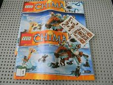 Lego Legends of Chima - 70143 Sir Fangar's Saber-Tooth Walker instruction books