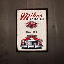 Personalized Classic Car Garage Wood Bar Pub Wall Sign Man Cave Groomsmen Gift