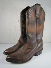 FRYE Billy Pull On Cowboy Boots Brown Leather 77689 Women's Size 9 B