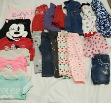 Lot Of 20pc, Baby Girl Clothes, 18-24mo, Carters, Guess Baby, Disney.