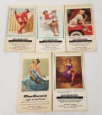 5 Original Vintage Sexy Risque Pin-Up Girls GIL ELVGREN Notepads