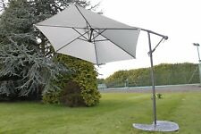 Cantilever 2.7M Wide Hanging Garden Parasol In A Grey Colour With Crank