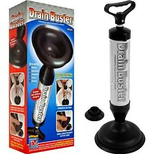 Drain Buster Plunger Power Suction Toilet Sink Shower Pipe Clog Sucker Unblocker