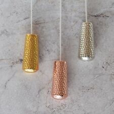 Decorative Metallic Hammered Copper, Gold And Silver Window Blind Pulls cord
