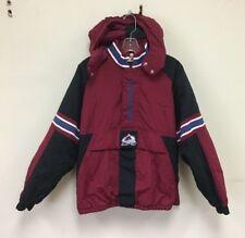 Vintage Colorado Avalanche Starter NHL Hockey Insulated 1/2 Zip Jacket Boys XL