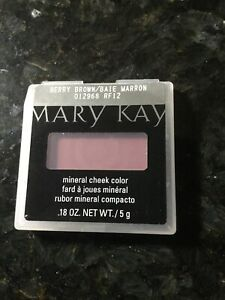 Mary Kay Mineral Cheek Color Blush Berry Brown 012968 .18oz Disc READ extras!