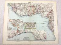 1907 Antik Map Of Afrika Kamerun Kongo Gold Coast Biafra Ashanti Nigeria