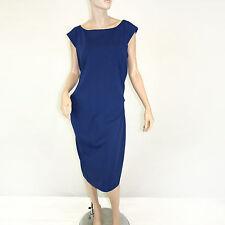 NEW NWT Diane Von Furstenberg Bloomingdale's Heron Blue Gabi Knit Suit Dress 14