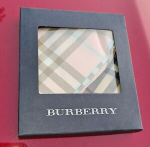 BURBERRY NOVA CHECK SILK POCKET SQUARE/HANDKERCHIEF SCARF