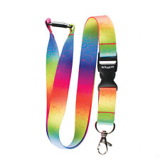 Rolseley Multicolour Rainbow Ornament Neck Strap Lanyard with Safety Breakaway