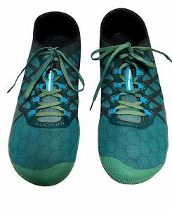 Merrell Men's Vapor Glove 3 J09679 Green/ Blue Barefoot Running Shoes Sz 11