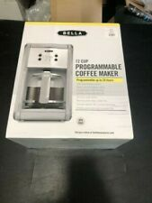 Silver Bella 12 Cup Programmable Coffee Maker New Matches Kitchenaid & Cuisinart