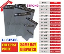 More details for strong grey mailing bags post mail postal poly postage self seal all sizes cheap