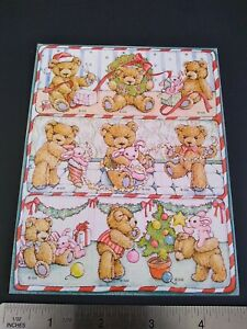 Vintage Stickers Gibson Teddy Hugglesbie Bunny Rabbit Bear Sticker Sheet VTG