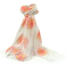 White Orange Firework Scarf White Fireworks Scarves Shawl Colourful New Last One