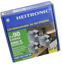 LED Einbaustrahler 3er Strahler Leuchten Set Heitronic mit Treiber 101604
