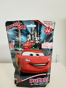 Disney Pixar CARS 24 Piece Puzzle On The Go Resealable Bag For Easy Storage!!