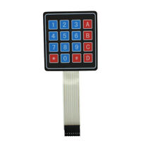 Advanced Keypad Keyboard for Arduino/AVR/PIC 4 x 4 Matrix Array 16 Key Membrane