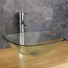 Glass Square Home Bathroom Sinks