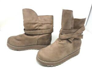 Womens Skechers (44936) Keepsakes 2.0 Pikes Peak Brown Fuzzy Boots (421K)