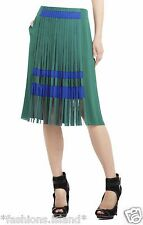 NEW BCBG MAX AZRIA RUNWAY RUNWAY ODETTE PLEATED SKIRT SIZE 4 $298.00 PMX3D691