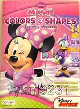 Disney Minnie COLORS & SHAPES Learning Workbook Colorful Education Fun Pre-K New