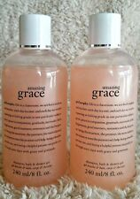 Philosophy Set 2 Amazing Grace 3 in 1 Shampoo Bath & Shower Gel 8oz NEW Sealed