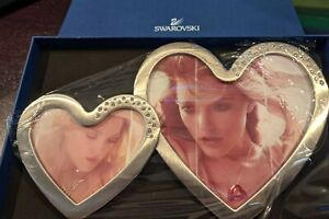 Swarovski Double Heart Photo Frame