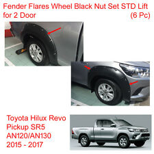 Fender Flares Wheel Black Nut Set STD Lift 2 Door For Toyota Hilux Revo 2015-17