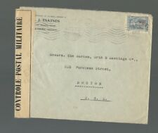 A-1135 GREECE 1937 COMMERCIAL CENSOR  COVER  TO BOSTON, MASS