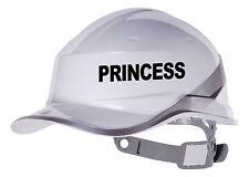 2X PRINCESS Hard Hat vinyl decal Warehouse Sticker transfer CUSTOM COLOUR & FONT