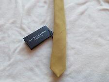 $350 NWT Authentic BURBERRY PRORSUM Mens Antique Yellow Silk Skinny Tie