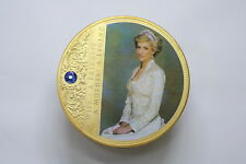 UK GB 2013 DIANA MEDAL Copper, gold-layered with a brilliant blue Swarovski crys