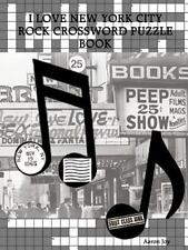 I Love New York City Rock Crossword Puzzle Book by Aaron Joy (2013, Paperback)